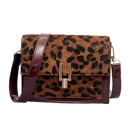 Shoespie PU Leopard Thread Square Crossbody Bags