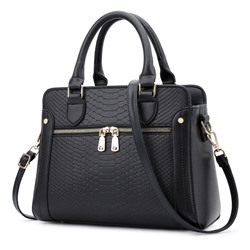 Shoespie PU Thread Alligator Square Tote Bags
