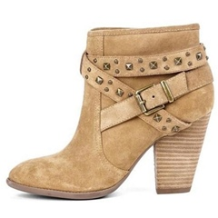 Shoespie Trendy Side Zipper Round Toe Chunky Heel Ankle Boots