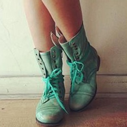 Shoespie Trendy Round Toe Side Zipper PU Ankle Boots