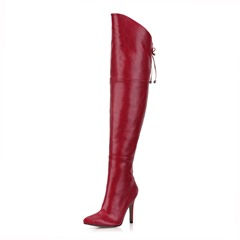 Shoespie Stylish Side Zipper Pointed Toe Thigh High Boots