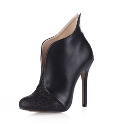 Shoespie Sexy Slip-On Stiletto Heel Round Toe Ankle Boots
