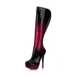 Shoespie Stylish Round Toe Stiletto Heel Platform Knee High Boots