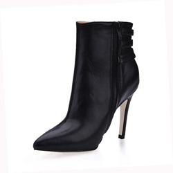 Shoespie Sexy Side Zipper Pointed Toe Ankle Boots