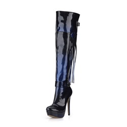 Shoespie Stylish Stiletto Heel Side Zipper Round Toe Knee High Boots
