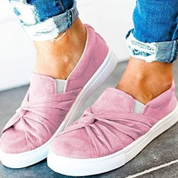 Shoespie Suede Flat Bow Slip-On Casual Loafers