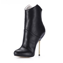Shoespie Trendy Back Zip Round Toe Short Floss Ankle Boots