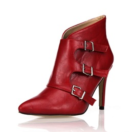 Shoespie Stylish Pointed Toe Hasp Ankle Boots
