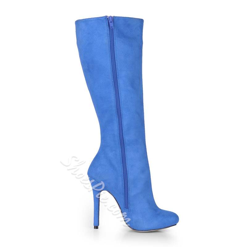 Shoespie Sexy Side Zipper Round Toe Knee High Boots