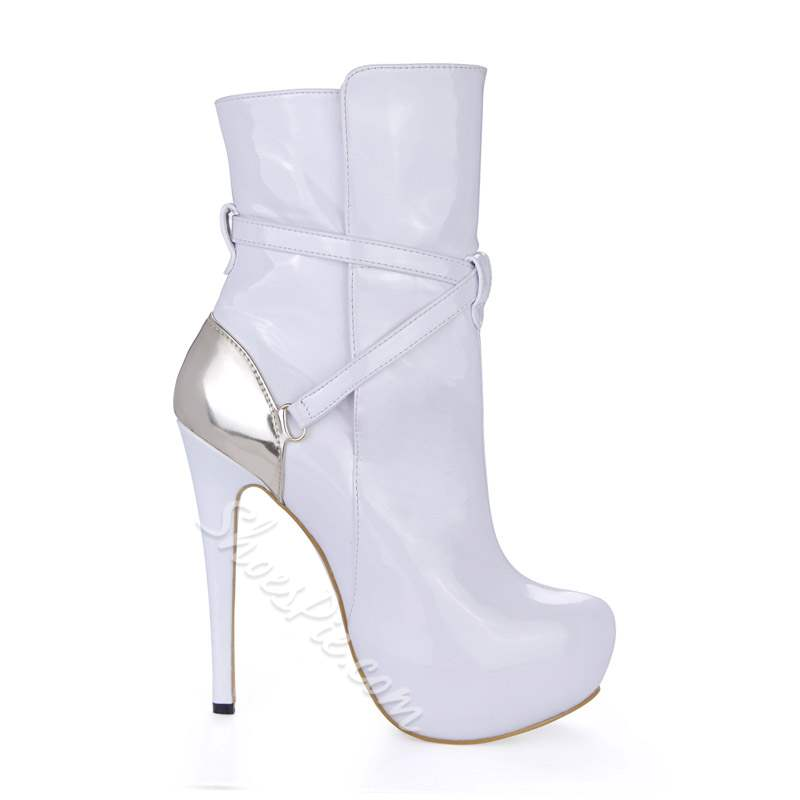 Shoespie Stylish Round Toe Hasp Stiletto Heel Ankle Boots