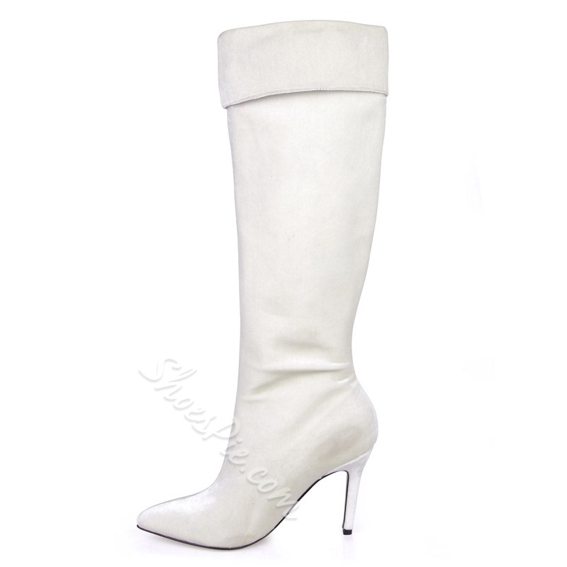 Shoespie Stylish Pointed Toe Plain Stiletto Heel Knee HIgh Boots