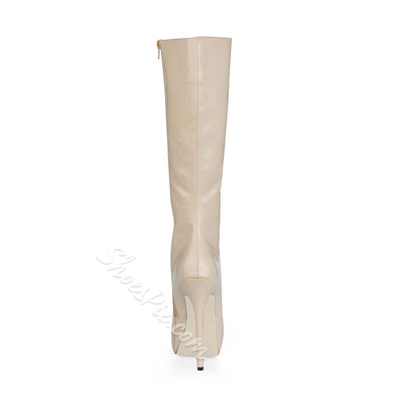Shoespie Sexy Side Zipper Short Floss Knee High Boots