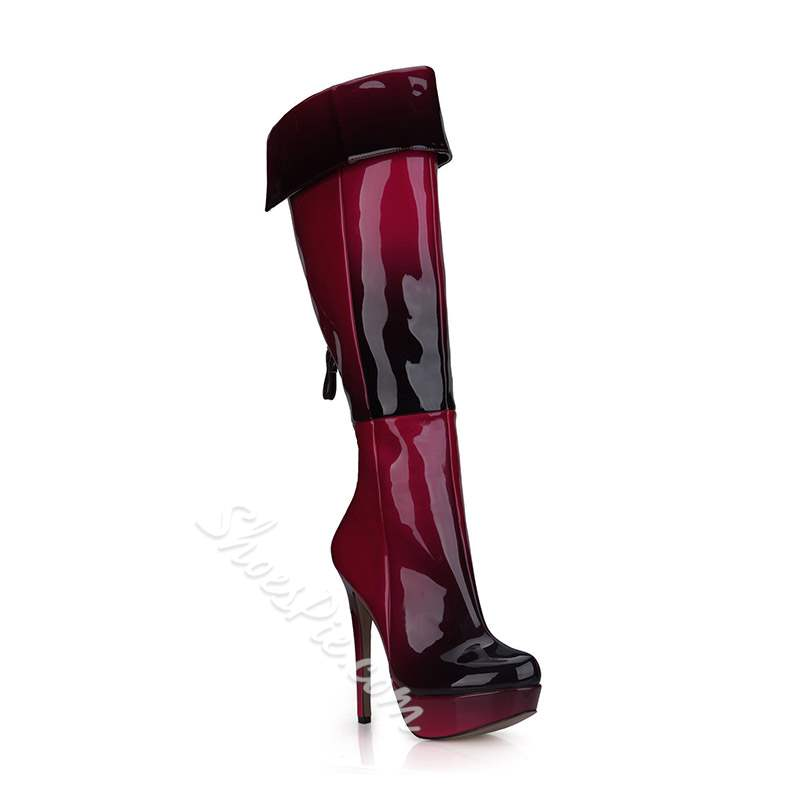 Shoespie Sexy Back Zip Stiletto Heel Knee High Boots