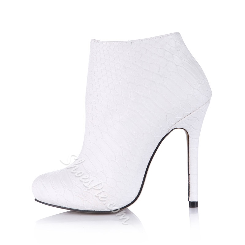 Shoespie Stylish Stiletto Heel Round Toe Ankle Boots