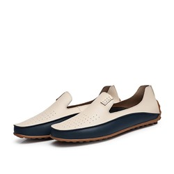 Shoespie Slip-On Low-Cut Upper Color Block Men's Loafers