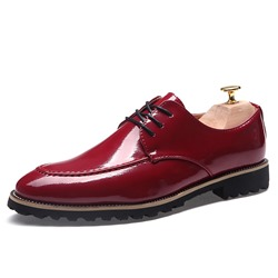 Shoespie Low-Cut Upper Plain Round Toe Men's Leather Shoes