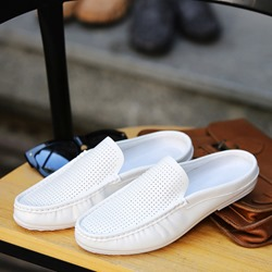 Shoespie Hollow Summer Plain Slip On Men's Loafers