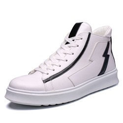 Shoespie Lace-Up Color Block High-Cut Upper Men's Sneakers