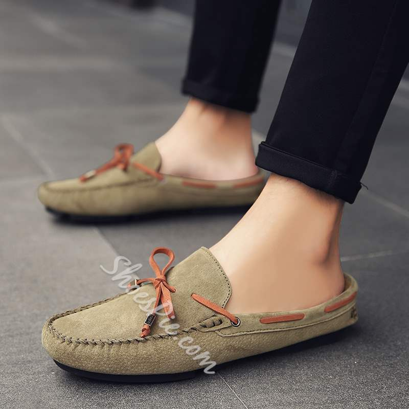 Shoespie Spring Plain Bow Knot Slip On Men's Loafers