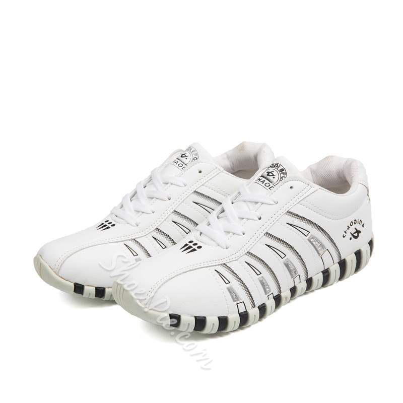 Shoespie Trendy Round Toe Low-Cut Upper Lace-Up Casual Sneakers