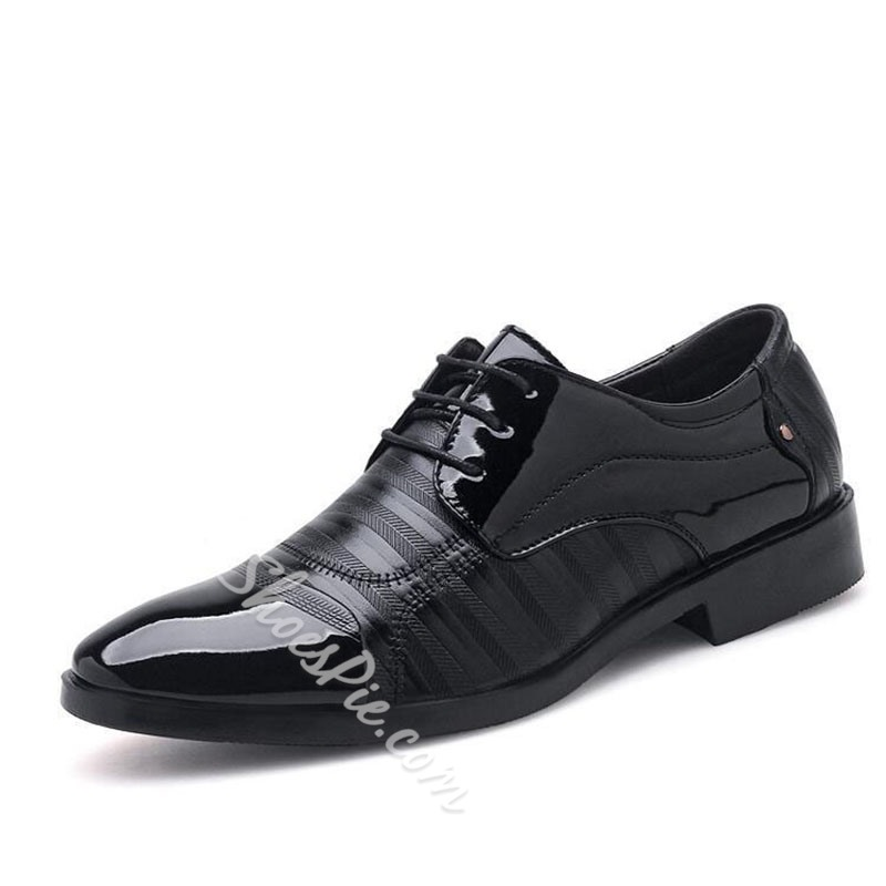 Shoespie Large Size Lace-Up Men's Oxford Shoes