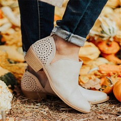 Shoespie Stylish Slip-On Pointed Toe Vintage Ankle Boots