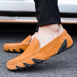 Shoespie Low-Cut Upper Slip-On Round Toe Men's Lofers