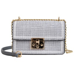 Shoespie Plaid Thread PU Rectangle Crossbody Bags
