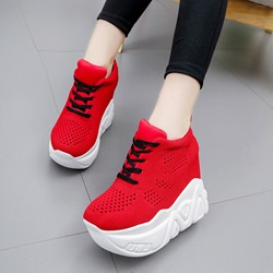 Shoespie Sexy Lace-Up Upper Round Toe Platform Sneakers