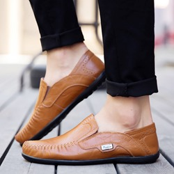 Shoespie Flat Slip-On Plain Round Toe Men's Loafers