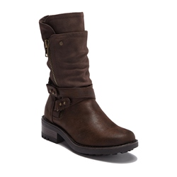 Shoespie Stylish Chunky Heel Side Zipper Ankle Boots