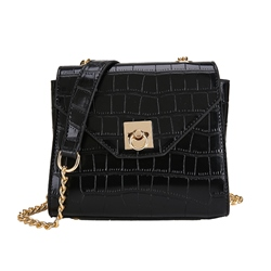 Shoespie PU Stone Thread Square Crossbody Bags