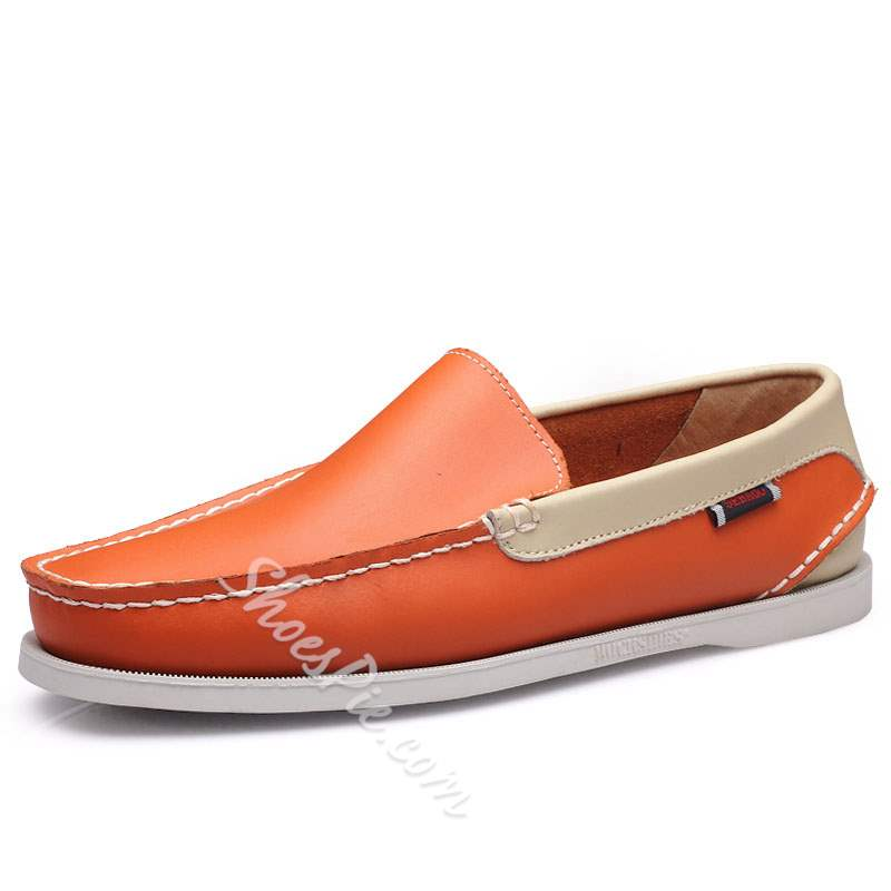 Shoespie Flat Heel Low-Cut Upper PU Slip On Men's Loafers