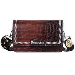 Shoespie Gradient Color PU Belt-Decorated Rectangle Crossbody Bags