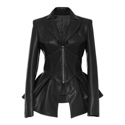 Zipper PU Slim Women's PU Jacket