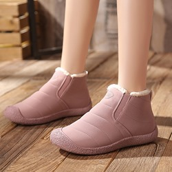 Shoespie Trendy Slip-On Round Toe Ankle Snow Boots