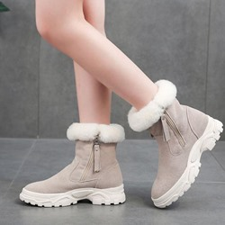 Shoespie Sexy Side Zipper Round Toe Warm Ankle Boots