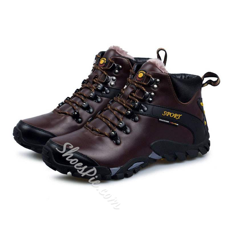 Shoespie Mid-Cut Lace-Up Round Toe Men's Sneakers