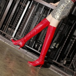 Shoespie Sexy Stiletto Heel Side Zipper Warm Thigh High Boots