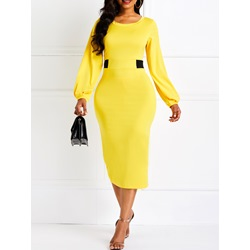 Long Sleeve Polyester Workwear Women's Bodycon Dress