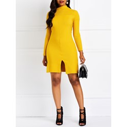 Long Sleeve Straight Pullover Women's Bodycon Dress
