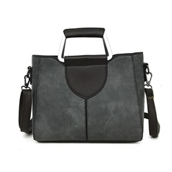 Shoespie PU Patchwork Square Tote Bags