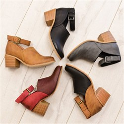 Shoespie Stylish Round Toe Hasp Buckle Ankle Boots