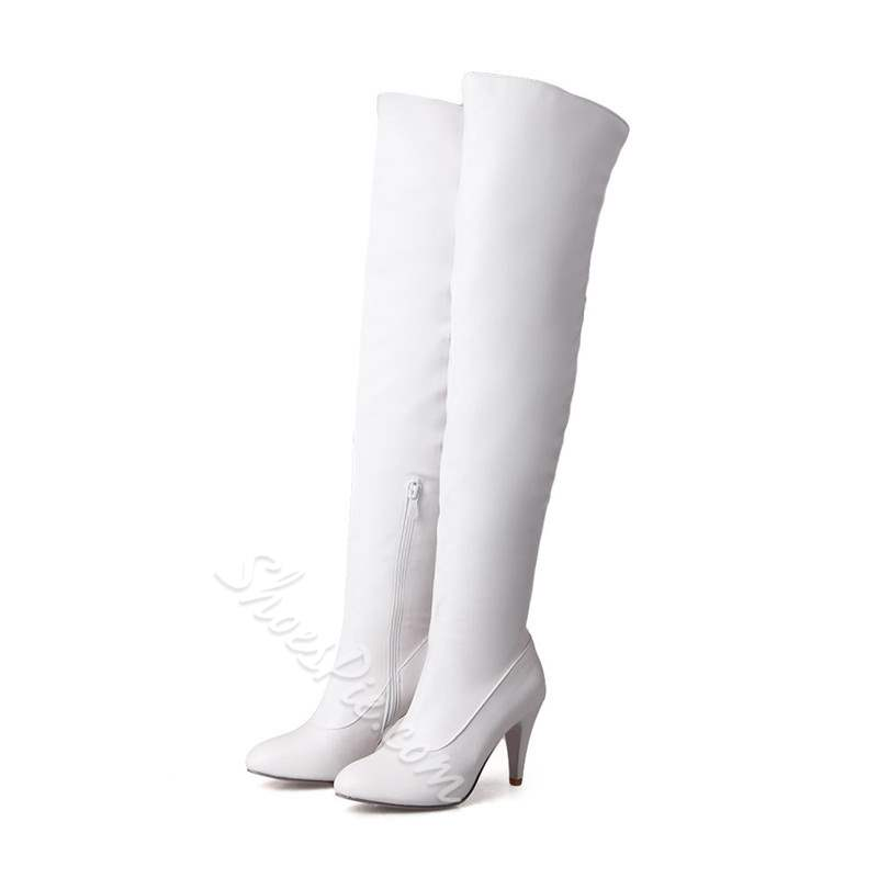 Shoespie Stylish Stiletto Heel Side Zipper Thigh High Boots