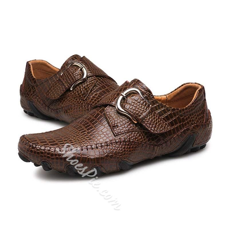 Shoespie Low-Cut Upper Slip-On Round Toe Men's Loafers