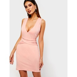 Above Knee Sleeveless V-Neck Sexy Women's Bodycon Dress