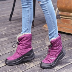 Shoespie Sexy Round Toe Elastic Flat Casual Snow Boots
