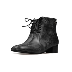 Shoespie Sexy Chunky Heel Back Zip Plain Short Floss Ankle Boots