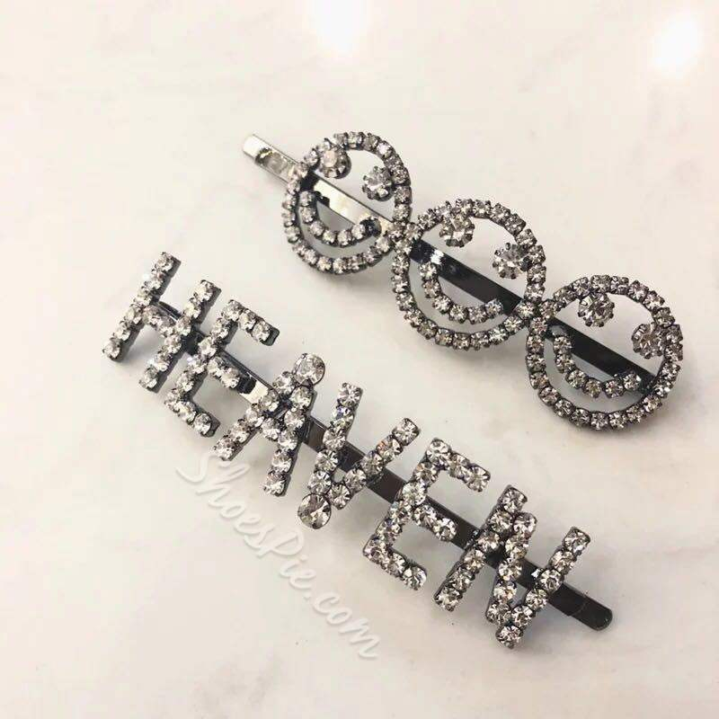 Bling Bling Barrette Letter Party Hair Pin