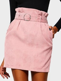 Stringy Selvedge Plain Mini Skirt Casual Women's Skirt